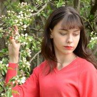 Девушка у яблони :: Вета Жаринова