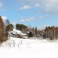 ранняя весна в сибирской деревне :: Мария К
