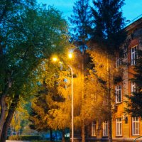 вечер,Новосибирск,фонарь :: Света Кондрашова