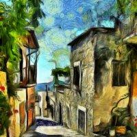 Кривая улочка в солнечном городке :: Ирина Сивовол