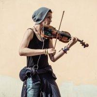 Уличный скрипач. :: Evgenija Enot