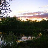 закат на озере... :: александр дмитриев