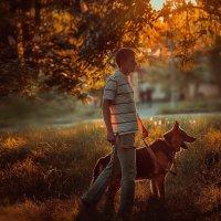 фото портрет с животным :: Оля Грушевская