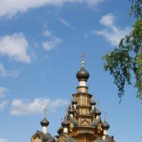 Храм в деревне Верхняя Санарка :: Сергей Комков