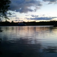 Осенний вечер на реке Шексне :: Инна Носова