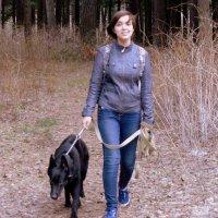 Девушка с собакой . :: Мила Бовкун