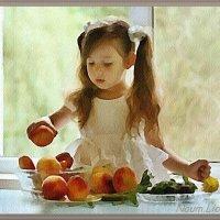 Девочка с персиками :: Лидия (naum.lidiya)