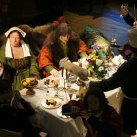 Примерно так выглядел семейный обед в эпоху раннего Возрождения :: Елена Павлова (Смолова)