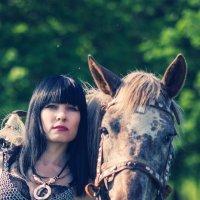 Валькирия и конь :: Сергей M