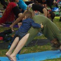 Йога в яблоневой роще :: Нина
