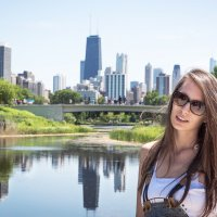 На фоне Чикаго :: Лёша