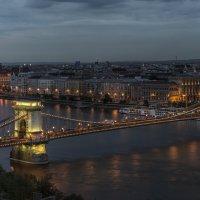 Цепной мост и здание парламента в Будапеште :: Борис Гольдберг