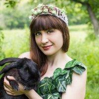 С кроликом :: Дина Горбачева