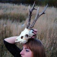Девушка с черепом. :: Анастасия Авхимович