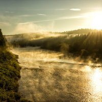 Волшебное утро на таежной речке :: Александр Чазов
