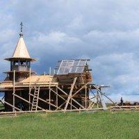 Реконструкция часовни Михаила Архангела в музее-заповеднике Кижи :: Avada Kedavra!