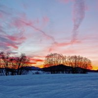 Зимний закат :: Евгений Леоненко