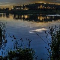 Вечерком на озере. :: Дмитрий Царапкин