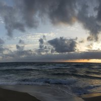 Закат на Пляже Фаласарна, Крит (панорама) :: Детский и семейный фотограф Владимир Кот