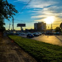 Закат на площади труда в Новосибирске :: Света Кондрашова