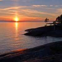 Закат на Онежском озере :: Наталья Левина