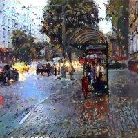 В городе дождь :: Елена Миронова