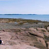 Туристы на океанском дне. Остров Ministers Island во время отлива. Залив Fundy (Канада) :: Юрий Поляков