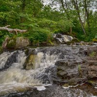 Водопад Халламеолла, Швеция :: Priv Arter