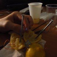 Электрическая батарейка на лимонной основе. Светодиод светит! :: Андрей Лукьянов