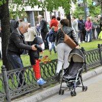 Личным примером учим детей ходить по газонам и преодолевать ограждения :: Николай Сапегин