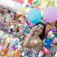 Девушка с шарами. Фотограф в Белгороде. Семейный фотограф Руслан Кокорев. :: Руслан Кокорев