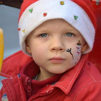 Снеговик на щечке. :: Оля Богданович