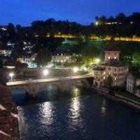 Вид на историческую часть Берна и полноводную реку Аару :: Елена Павлова (Смолова)