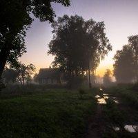 туман в деревне :: Олег