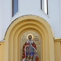Мозаика на часовне Александра Невского :: Леонид Дудко