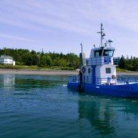 Буксир для нашего парома в заливе Fundy (Канада) :: Юрий Поляков