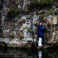 Испытание для влюбленных))) Ставишь на камень под скалой, вода +4, глубина 9 метров :: Аннета /Анна/ Шу