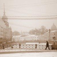 А в Питере шел снег... :: Вадим Залыгаев