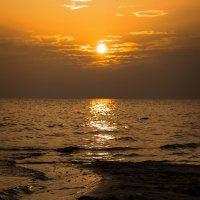 закат на чудском,солнце в тумане)) :: Дмитрий Крестоварт