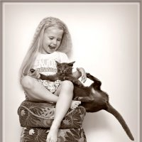 с кошкой 3 :: Эрика Гомер
