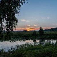 Вечер на озере. :: Владимир Безбородов