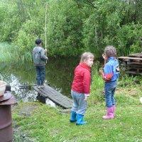 юные рыболовы... :: александр дмитриев
