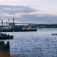 Вечером в порту г. Галифакс (Новая Шотландия, Канада) :: Юрий Поляков