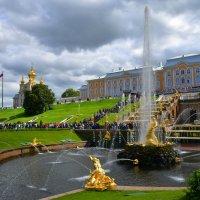 Петергоф, вид на Большой дворец. :: Anna Gornostayeva