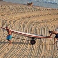 Утро пляжа. :: Leonid Korenfeld