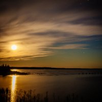 Ночь на водохранилище :: Дмитрий Колесников