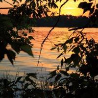 На озере лесном закат. :: Laborant Григоров