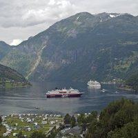 Geirangerfjord with ships :: Roman Ilnytskyi