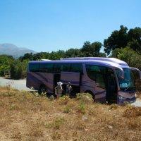 Экскурсионный автобус. Пласкогорье Лассити. :: Наталия Павлова