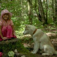 Красная шапочка и ее друг маленький волк :: Ольга Осипова